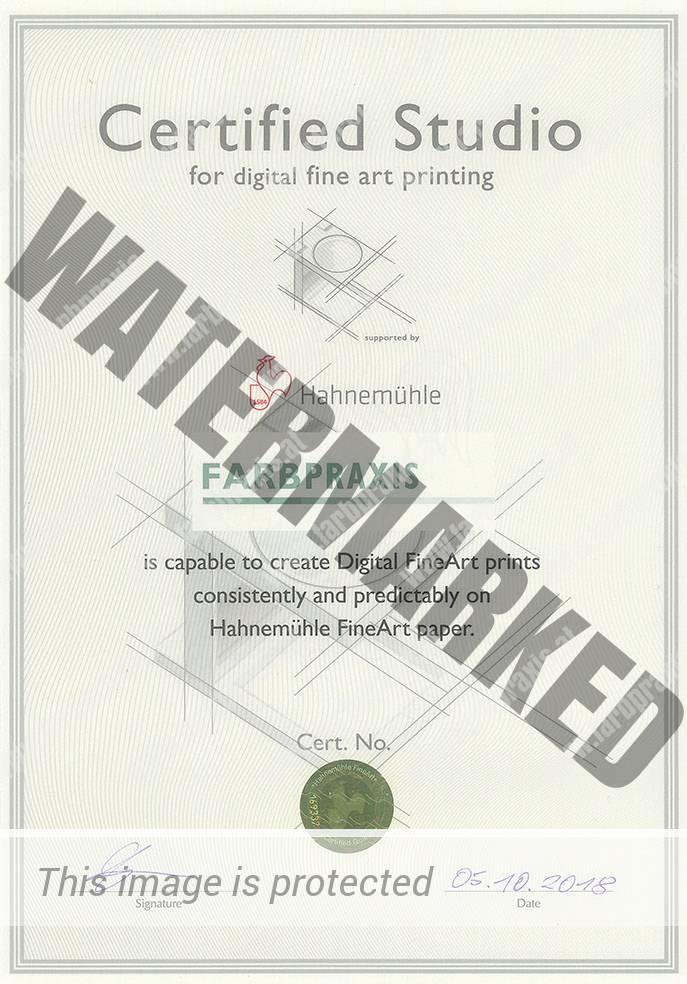 Hahnemühle Zertifikat