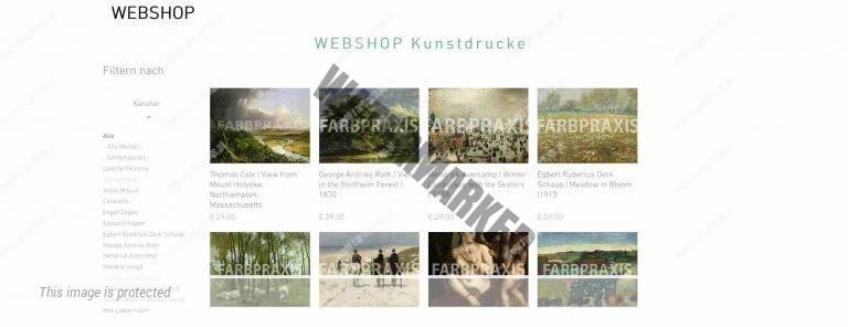 Kunstdruck Webshop Hintergrund