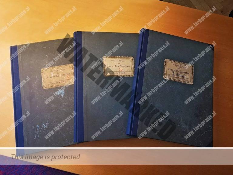 Faksimiledruck Wiener Staatsoper
